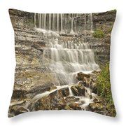 Scenic Alger Falls  Throw Pillow by Michael Peychich