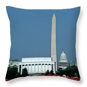 Scenic View Of Washington D.c Throw Pillow by Kenneth Garrett