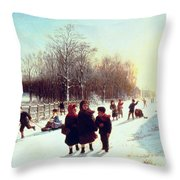 School's Out Throw Pillow by Samuel S Carr
