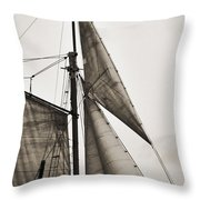 Schooner Pride Tall Ship Yankee Sail Charleston Sc Throw Pillow by Dustin K Ryan
