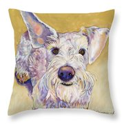 Scooter Throw Pillow by Pat Saunders-White