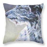 Scottish Deerhound Throw Pillow by Lee Ann Shepard