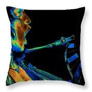 Screaming Cosmic Guitar Throw Pillow by Ben Upham