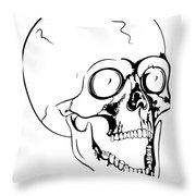 Screaming Skull Throw Pillow by Michal Boubin
