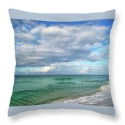 Sea And Sky - Florida Throw Pillow by Sandy Keeton