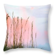 Sea Oats Throw Pillow by Kristin Elmquist