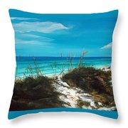 Seagrove Beach Florida Throw Pillow by Racquel Morgan