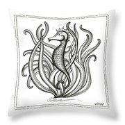 Seahorse Throw Pillow by Stephanie Troxell