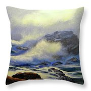 Seascape Study 8 Throw Pillow by Frank Wilson