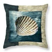Seashell Souvenir Throw Pillow by Lourry Legarde