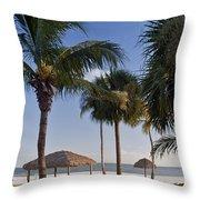 Seaside Throw Pillow by Melanie Viola