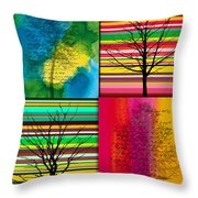 Seasons Throw Pillow by Ramneek Narang