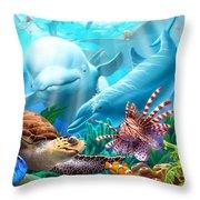 Seavilians Throw Pillow by Jerry LoFaro
