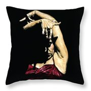 Seclusion Del Flamenco Throw Pillow by Richard Young