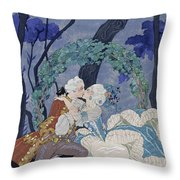 Secret Kiss Throw Pillow by Georges Barbier
