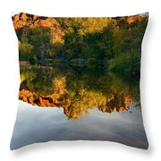 Sedona Sunset Throw Pillow by Mike  Dawson