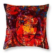 Self-portrait-5 Throw Pillow by Natalie Holland