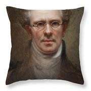 Self Portrait Throw Pillow by Rembrandt Peale