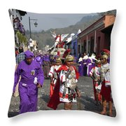 Semana Santa Procession I Throw Pillow by Kurt Van Wagner