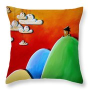 Send In The Clouds Throw Pillow by Cindy Thornton