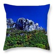 Seneca Rocks National Recreational Area Throw Pillow by Thomas R Fletcher