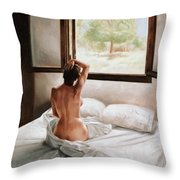 September Morning Throw Pillow by John Worthington
