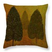 September Trees  Throw Pillow by David Dehner