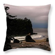 Serene And Pure - Ruby Beach - Olympic Peninsula Wa Throw Pillow by Christine Till