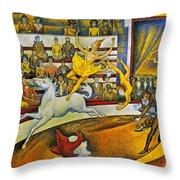 Seurat: Circus, 1891 Throw Pillow by Granger