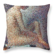 Seurat: Model, 1887 Throw Pillow by Granger