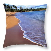 Seven Seas Beach Throw Pillow by Thomas R Fletcher