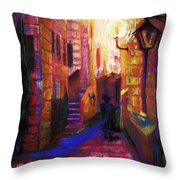 Shabbat Shalom Throw Pillow by Talya Johnson