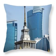 Shanghai Exhibition Center Throw Pillow by Christine Till