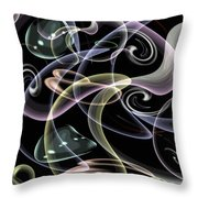 Shapes Of Fluidity Throw Pillow by Kaye Menner