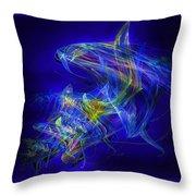 Shark Beauty Throw Pillow by Michael Durst