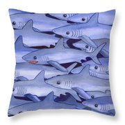 Sharks Throw Pillow by Catherine G McElroy