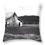 Shasta Barn Throw Pillow by Kathy Yates