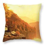 Shawanagunk Mountains Throw Pillow by Jervis McEntee