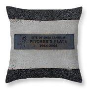 Shea Stadium Pitchers Mound Throw Pillow by Rob Hans
