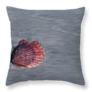 Shell Imprint Throw Pillow by Linda Sannuti