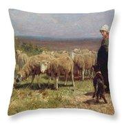 Shepherdess Throw Pillow by Anton Mauve