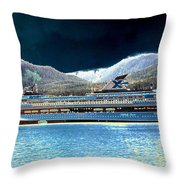 Shipshape 10 Throw Pillow by Will Borden