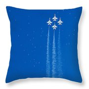Shooting Stars Throw Pillow by Paul Ge