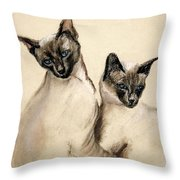 Sibling Love Throw Pillow by Cori Solomon