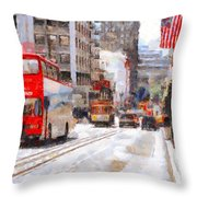 Sightseeing Along Powell Street In San Francisco California . 7d7269 Throw Pillow by Wingsdomain Art and Photography
