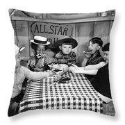 Silent Film: Little Rascals Throw Pillow by Granger