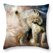 Silent Spirit Throw Pillow by Carol Cavalaris