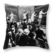 Silent Still: Banking Throw Pillow by Granger