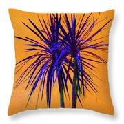 Silhouette On Orange Throw Pillow by Margaret Saheed