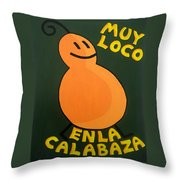 Silly Squash Throw Pillow by Oliver Johnston
